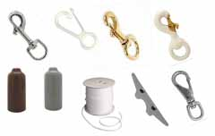 Flagpole Snaps, Halyards and Accessories