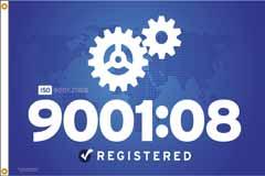 ISO 9001:08 Flag