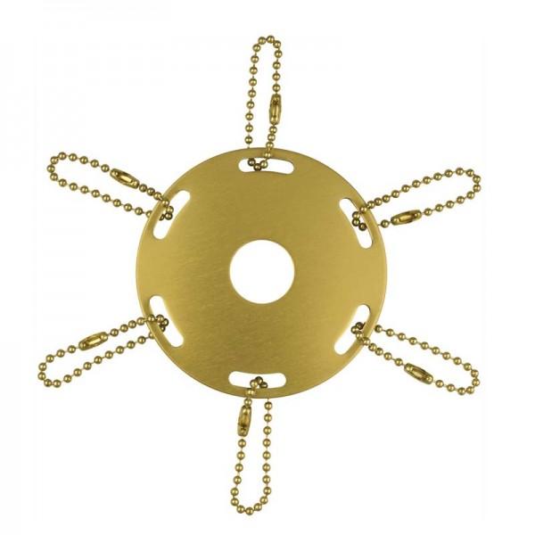 Metal Award Ribbon Pole Ring Gold