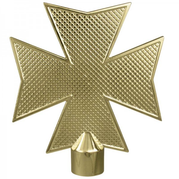 Metal Maltese Cross Gold