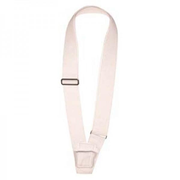Single Strap White Web Carrying Belt