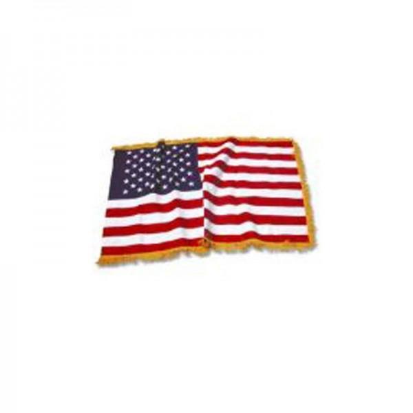 US Indoor Banner Flag With Gold Fringe